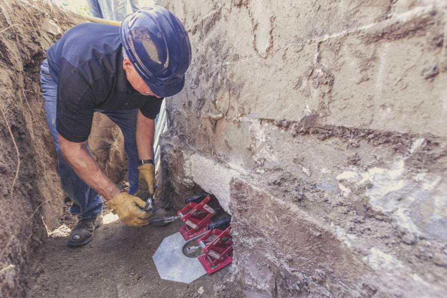 foundation repair work