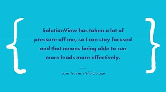 garage testimonial solutionview
