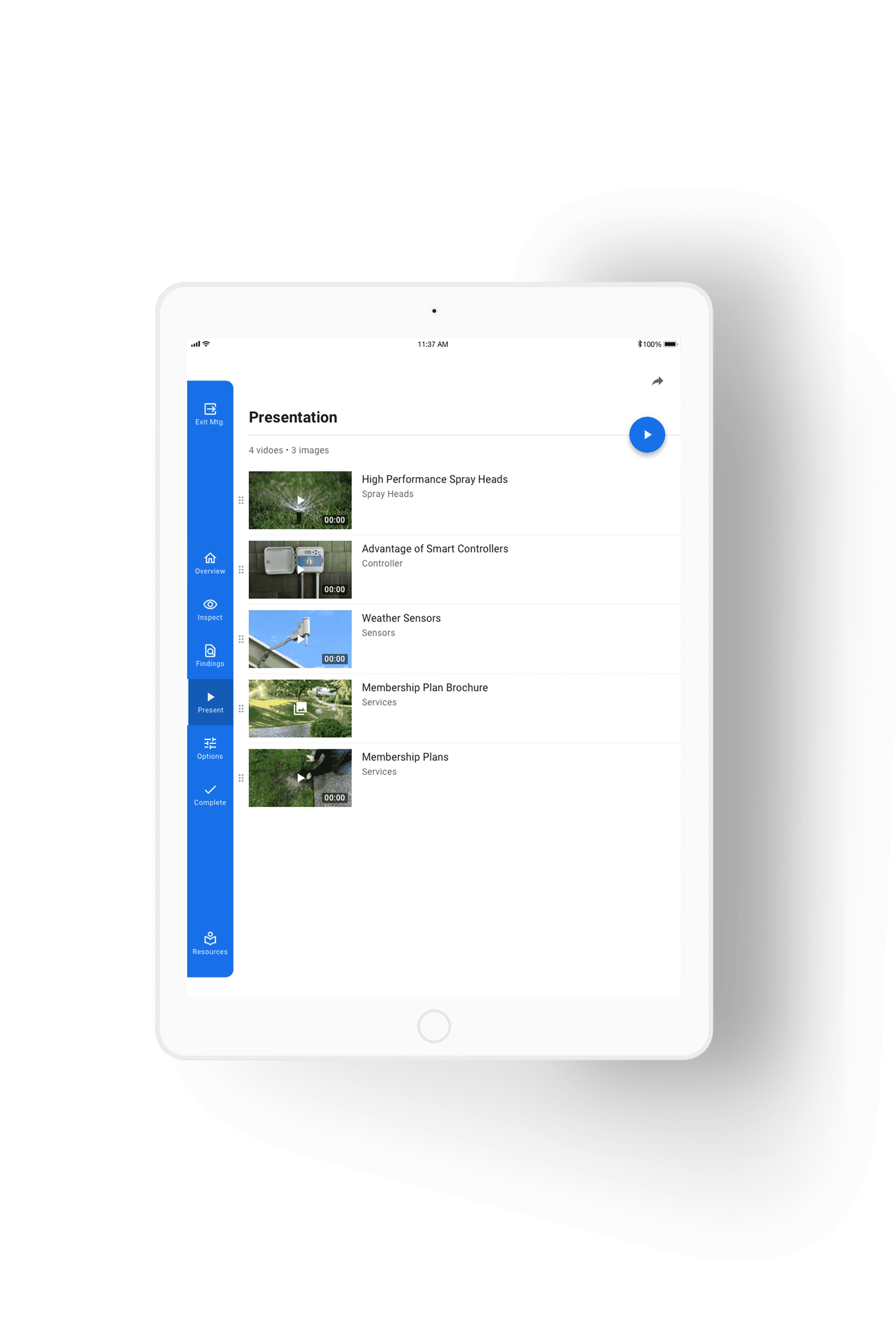 presentation solution view