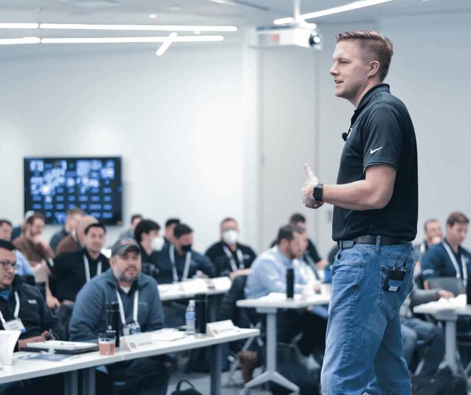 SolutionView sales coach during training seminar